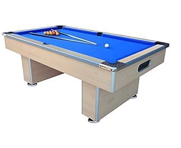 MIGHTYMASTSPEEDSTER 7ft Slate Bed Pool Table (Beech)