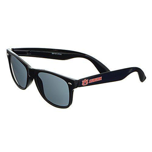 Auburn Tigers Sunglasses - Auburn Tigers Black Plastic Frame Classic Sunglasses with Logo