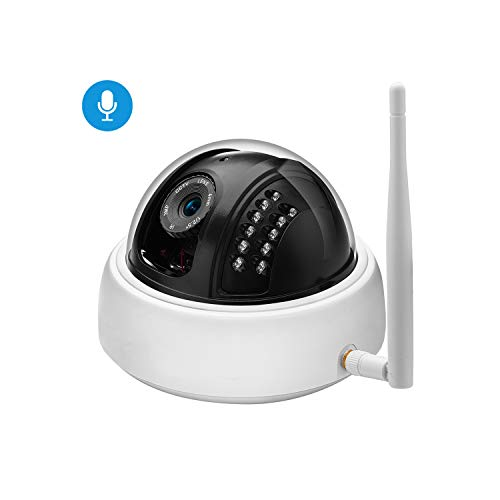 Audio Wide Angle 1080P 720P WiFi IP Camera Microphone Surveillance Indoor Camera Security Night Vision CCTV Camera Camhi,1080P with Adapter,3.6Mm
