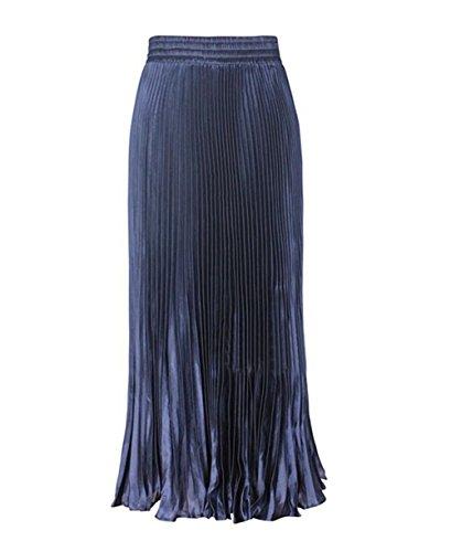 CoutureBridal - Falda - trapecio - para mujer azul marino