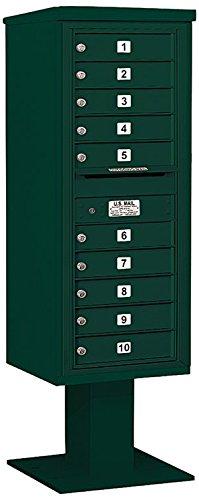 Salsbury Industries 3412s-10grn 4 C Pedestalメールボックス、グリーン   B00CLVD1PM