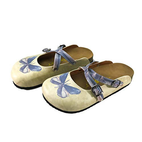 Flysoft Bonito Women's Clogs and Mules (10, Butterfly)