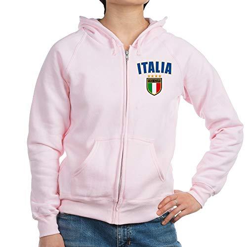 CafePress Italian Pride Womens Zip Hoodie, Classic Hooded Sweatshirt with Metal Zipper Pale Pink