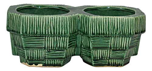 McCoy Pottery Green Double Planter