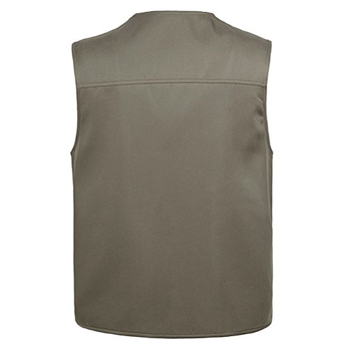 Vest Gilet for Zhhlaixing Buena Mens Sides Fishing Thin Both Summer and Gift Khaki Photography Father's tela Multifunction Day To Wear ww6qraO