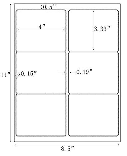 100 Sheets Adhesive Sticker Shipping Address Labels For Laser/Ink Jet Printer,600 Labels Total (6-UP)