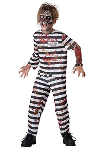 Fun World InCharacter Costumes Creepy Convict Costume, One Color, Size