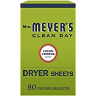 Mrs. Meyer's Clean Day Dryer Sheets, Lemon Verbena Scent, 80 count