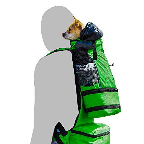 K9 Sport Sack™ FLEX | Dog Carrier Backpack For Small and Medium Pets| Foward Facing Adjustable Zippers for Size | Veterinarian Approved Safe Pack For Travel (XS-M, GREEN)