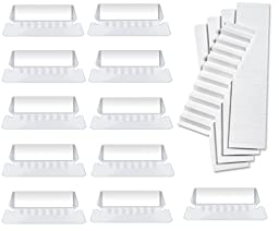 100 Pack Hanging Folder Tabs and Inserts, 2\
