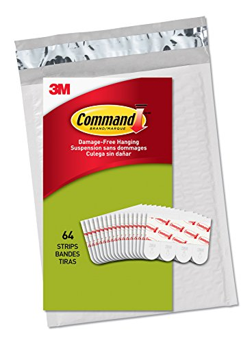 Command Poster Hanging Strips, White, 64-Strips (PH024-64NA) - Easy to Open Packaging