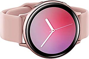 Samsung Galaxy Watch Active2 (Silicon Strap + Aluminum Bezel) Bluetooth - International (Pink Gold, R820-44mm)