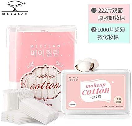 Almohadilla de algodón desmaquillante desmaquillante de algodón para cara 1000 algodón en caja delgada sección toalla húmeda desechable 222 algodón grueso + 1000 algodón fino: Amazon.es: Belleza