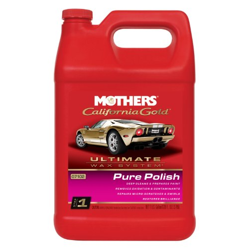 One Step Applicator - Mothers 07102 California Gold Pure Polish (Ultimate Wax System, Step 1) - 1 Gallon