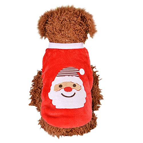 Pet Shirts Super Cute Puppy Vest Tank Tops Dogs Shirt Soft Sweatshirt for Small Dogs (Red, -