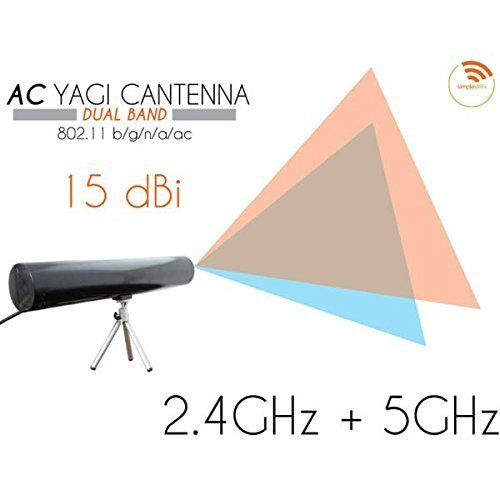 Dual Band Indoor Directional Antenna - Yagi Cantenna Dual-Band WiFi Extender (Long Range Wi-Fi Booster) Fast High Speed Antenna Extends WiFi for Home, Business (Indoor) Directional (Clear)