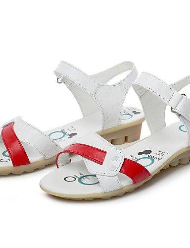 CITIOR Damen Plateau Absatz Schuhe Frauen Sandalen Outddor Büro Leder Niedriger Absatz Plateau Komfort-Blau/Rosa/Rot, Rosa-EU40/UK7/CN41 - cce211