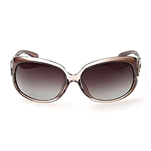 G&T New Fashion Classic Womens Big Frame UV Gradient Lens Driving Polarized Sunglasses(C5)