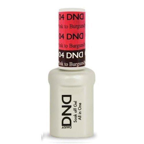 DND Daisy Soak Off Gel Mood Change - Pink to Burgundy 04