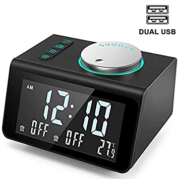 Amazon.com: ZUEN Radio Mini Radio Despertador Elegante Alto ...