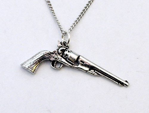 Colt 45 Revolver Pewter Charm with Chain (Gift Boxed) (45 Rifles Colt)