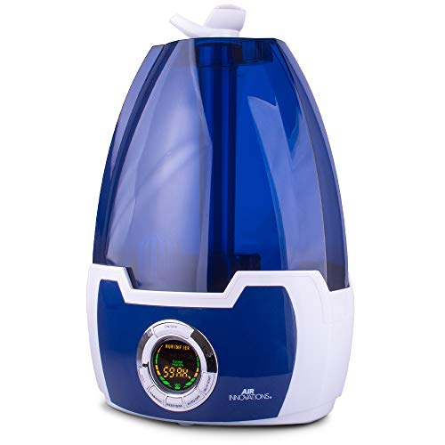 Air Innovations MH-602 1.6 Gal. Cool Mist Digital Humidifier for Large Rooms – Up to 500 sq. ft-Blue