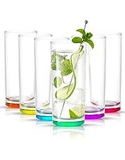 JoyJolt Hue Colored glass Set