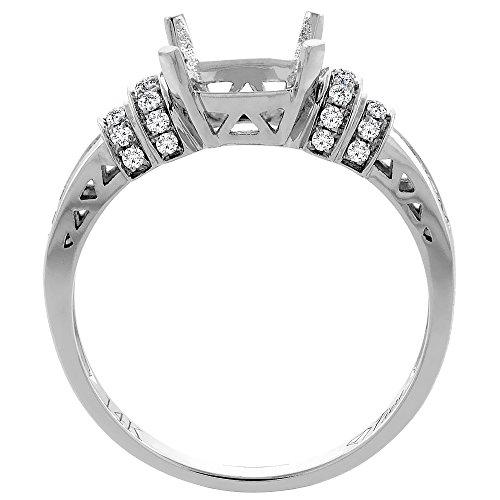 14K Gold Natural Garnet Ring Cushion Cut 7x7 mm Diamond Accents, sizes 5 10