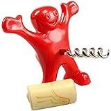 Meolin Funny Red Little Man Bottle Opener Wine Corkscrew Opener Red Wine Bottle Opener,9.58.58.5CM