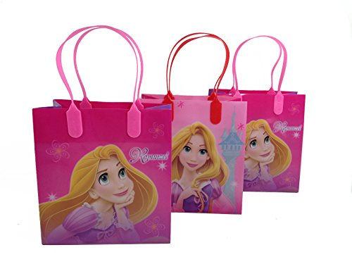 (12ct) Disney Nickelodeon Marvel Birthday Goody Gift Loot Favor Bags Party Supplies (Tangled) ()