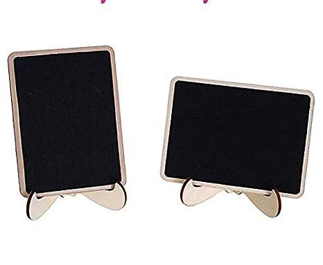 Amazon.com: 15 mini pizarras con caballete de apoyo, madera ...