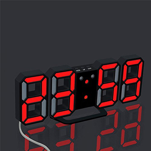 TR OD Digital LED Clock Table Desk Night Wall Clock Alarm Watch 24