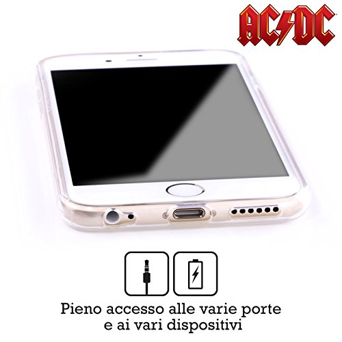 Officiel AC/DC ACDC Noir Et Blanc Photo De Groupe Étui Coque en Gel molle pour Apple iPhone 6 / 6s