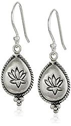 Satya Jewelry Lotus Drop Earrings