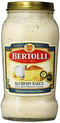 Garlic Alfredo Sauce - Bertolli Alfredo Sauce with Aged Parmesan Cheese, 15 oz 4 Pack