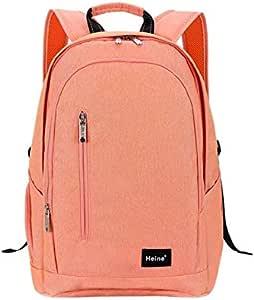 Heine Water Resistant Durable Diaper Bag Backpack, Travel Back Pack Nappy Organizer Maternity Bag for Mom - Orange