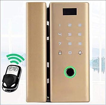 HXYL Cerradura de Puerta Inteligente electrónica, Puerta Doble corredera del Marco Cerradura Elegante de la Puerta de Cristal de la contraseña de Bluetooth ...