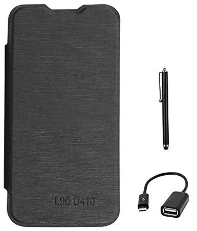 best sneakers 78704 89917 DMG Flip Book Case for LG L90 Dual D410 (Black) + USB OTG Cable + ...