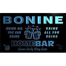 q04561-b BONINE Family Name Home Bar Beer Mug Cheers Neon Light Sign