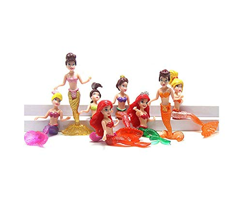 Cute Mermaid Handmade Princes Eight PVC Multfilm Action Figure Cake Topper Doll Toy Love Gift