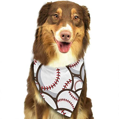 compass her Baseball Pattern Triangle Pet Bibs Scarf Dog Cat Bandana Neckerchief