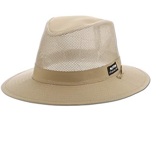 a62fbbdff4e030 Panama Jack Nylon/Mesh Safari Hat - Lightweight, UPF (SPF) 50+ Sun ...