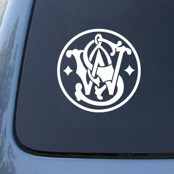 smith-and-wesson-guns-logo-car-truck-notebook-vinyl-decal-sticker-2526-5-white