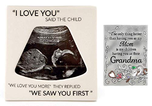 - Enesco Pregnancy Reveal Bundle with Ceramic Sonogram Photo Frame and Magnet