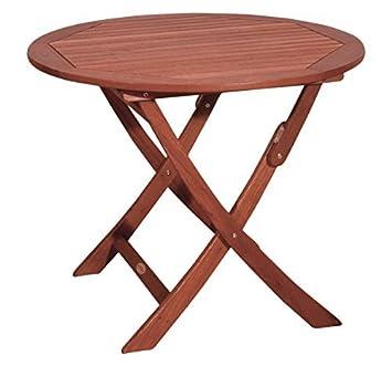 Amazonde Echtholz Balkontisch Holz Esstisch Rund Garten Tisch Holz