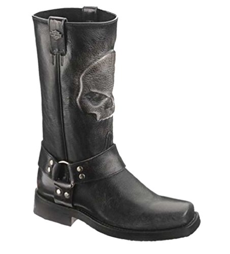 Wolverine Harley-Davidson Men's Quentin 12-Inch Classic Black Motorcycle Boots. D93215 price tips cheap