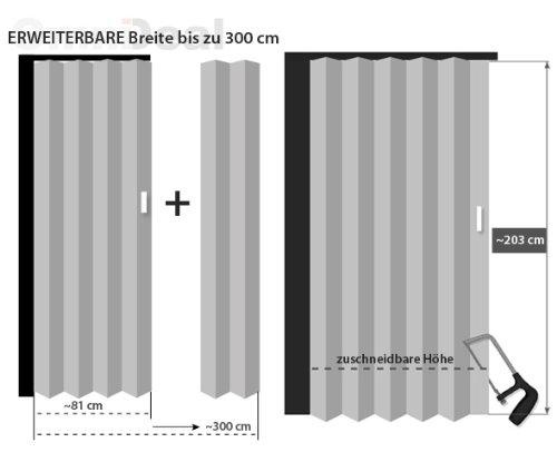 Porta A Soffietto In Legno Di Acero Norderney 81 X 203 Cm Parete A Soffietto Porta Scorrevole Colore Bianco