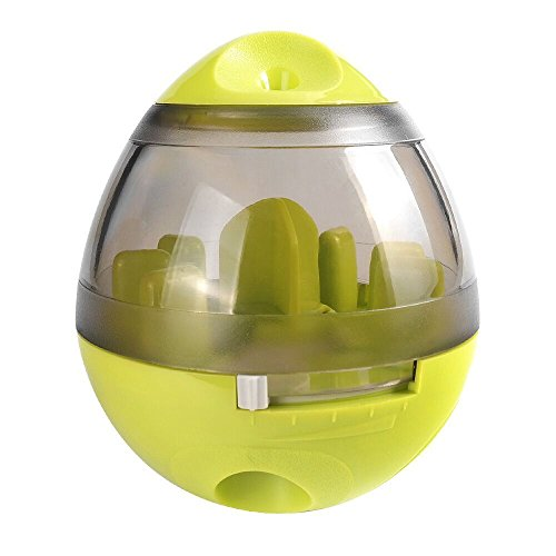 Own Cat Toy - HappyDoggies IQ Ball for Dogs - Treat-dispensing Ball for Dogs & Cats: Increases IQ and Mental stimulation