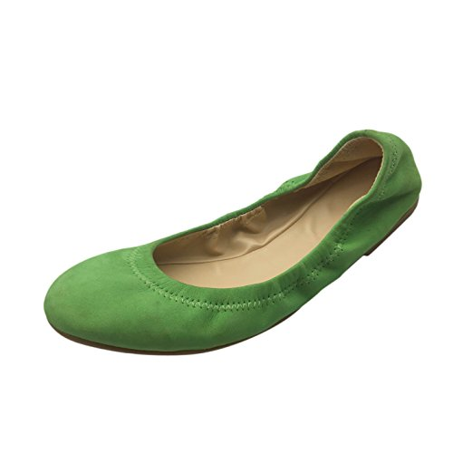 shengbin pzz Ballerine Donna, Verde (Green), 42 EU M