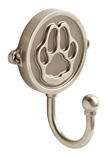 Franklin Brass FBPAWHK-SN-C Paw Print Wall Hook, Satin Nickel